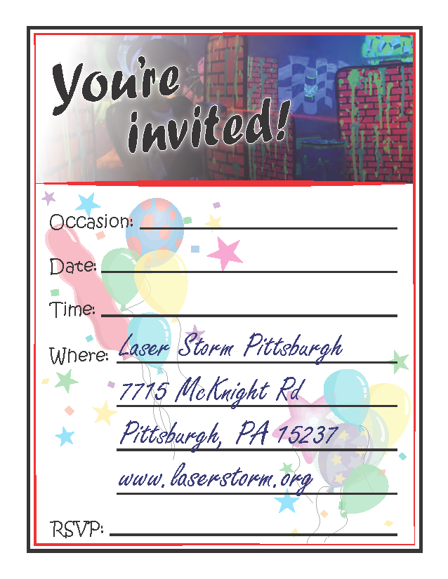 invitations thank you cards laser storm pittsburgh